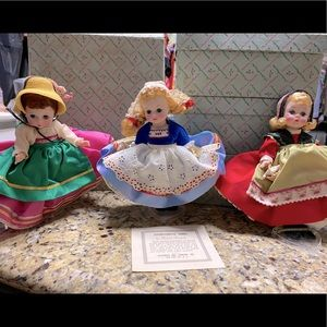 3 Madame Alexander International Collection Dolls